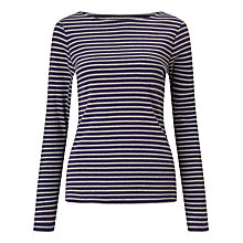 Buy John Lewis Boat Neck Long Sleeve Stripe T-Shirt Online at johnlewis.com