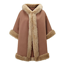 Buy John Lewis Maria Hooded Faux Fur Trim Cape Online at johnlewis.com