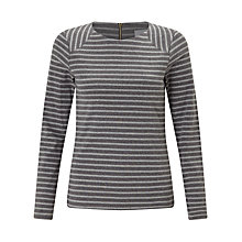 Buy Collection WEEKEND by John Lewis Zip Back Panel Breton T-Shirt Online at johnlewis.com