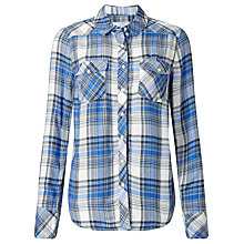 Buy Collection WEEKEND by John Lewis Jessa Check Shirt, Blue/White Online at johnlewis.com