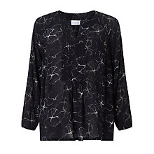 Buy Collection WEEKEND by John Lewis Flower Shadow Print Top, Black Online at johnlewis.com