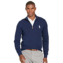 Buy Polo Golf by Ralph Lauren Half Zip Jumper, French Navy Online at johnlewis.com