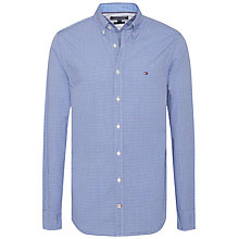 Buy Tommy Hilfiger Andrew Check Shirt, Sodalite Blue Online at johnlewis.com