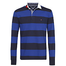 Buy Tommy Hilfiger Block Stripe Rugby Top, Sodalite Blue Online at johnlewis.com