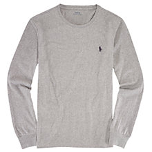 Buy Polo Ralph Lauren Long Sleeve Crew Neck T-Shirt, Dark Vintage Heather Online at johnlewis.com
