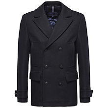 Buy Tommy Hilfiger Classic Peatcoat, Navy Online at johnlewis.com