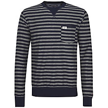 Buy Tommy Hilfiger Stripe Jersey Top, Navy Blazer Online at johnlewis.com