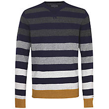 Buy Tommy Hilfiger Brian Stripe Jumper, Midnight Online at johnlewis.com