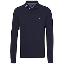 Buy Tommy Hilfiger Cotton Pique Long Sleeve Polo Shirt, Navy Blazer Online at johnlewis.com