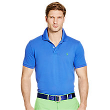 Buy Polo Golf by Ralph Lauren Short Sleeve Pro Fit Polo Shirt, New Periwinkle Online at johnlewis.com