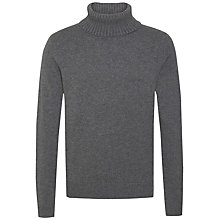 Buy Tommy Hilfiger Luxury Roll Neck Jumper, Silver Fog Online at johnlewis.com