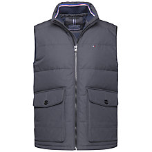 Buy Tommy Hilfiger Hampton Down Gilet, Dark Shadow Online at johnlewis.com