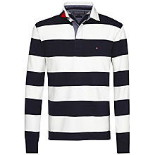 Buy Tommy Hilfiger Long Sleeve Rugby Shirt, Snow White Online at johnlewis.com