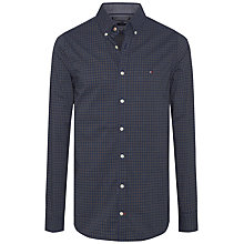 Buy Tommy Hilfiger Brad Check Long Sleeve Shirt, Navy Blazer/Arrowwood Online at johnlewis.com