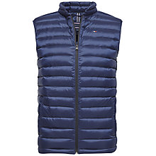 Buy Tommy Hilfiger Lightweight Packable Gilet, Navy Blazer Online at johnlewis.com