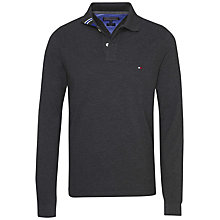 Buy Tommy Hilfiger Cotton Pique Long Sleeve Polo Shirt Online at johnlewis.com