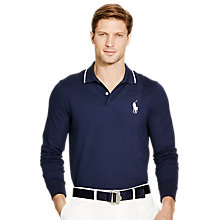 Buy Polo Golf by Ralph Lauren Pro-Fit Long Sleeve Polo Shirt, French Navy Online at johnlewis.com
