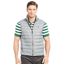 Buy Polo Golf by Ralph Lauren Down Gilet, Perfect Grey Online at johnlewis.com