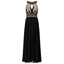 Buy Phase Eight Collection 8 Anastasia Full Length Dress, Black/Gold Online at johnlewis.com