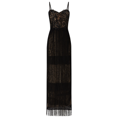 Phase Eight Collection 8 Hilda Fringe Dress, Black