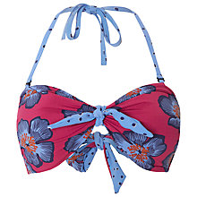 Buy White Stuff Tribal Floral Bikini Top, Dahlia Purple Online at johnlewis.com