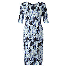 Buy Jigsaw Georgia Flower Silk Dress, Ink Online at johnlewis.com