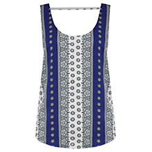 Buy Oasis Sunshine Paisley Vest, Multi/Blue Online at johnlewis.com