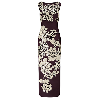 Phase Eight Collection 8 Doris Embroidered Maxi Dress, Aubergine