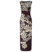 Buy Phase Eight Collection 8 Doris Embroidered Maxi Dress, Aubergine Online at johnlewis.com