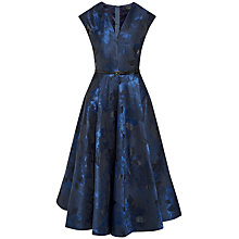 Buy Ted Baker Izita Jacquard V-Neck Dress, Dark Blue Online at johnlewis.com