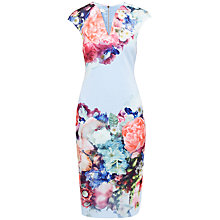 Buy Ted Baker Focus Bouquet Neoprene Dress, Pale Blue Online at johnlewis.com