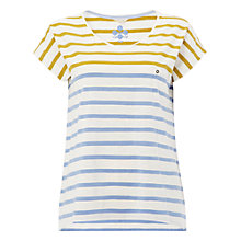 Buy White Stuff Annie Stripe Jersey T-Shirt, Nectar Yellow Online at johnlewis.com