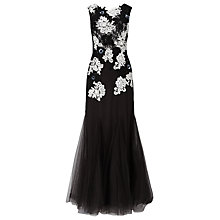 Buy Phase Eight Aude Tulle Dress, Black/Ivory Online at johnlewis.com