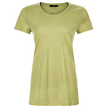 Buy Jaeger Cotton Jersey Side Split Tunic, Olive Online at johnlewis.com