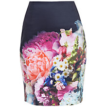 Buy Ted Baker Karyce Focus Bouquet Pencil Skirt, Dark Blue Online at johnlewis.com