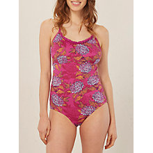Buy White Stuff Floral Bloom Swimsuit, Mexican Purple Online at johnlewis.com