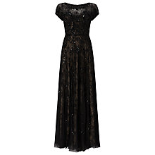 Buy Phase Eight Collection 8 Schubert Lace Beaded Full Length Dress, Black/Nude Online at johnlewis.com