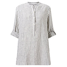 Buy East Stripe Oversized Shirt, White Online at johnlewis.com