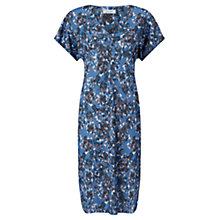 Buy Jigsaw Georgia Flower Dress, Pitch Blue Online at johnlewis.com