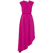 Buy Ted Baker Prisha Asymmetric Draped Dress, Fuchsia Online at johnlewis.com