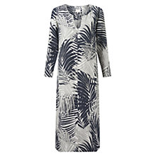 Buy East Linen Palm Kaftan Maxi Dress, Black Online at johnlewis.com