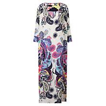 Buy East Nico Silk Maxi Kaftan Dress, Multi Online at johnlewis.com