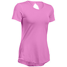 Buy Under Armour HeatGear CoolSwitch Short Sleeve Top, Purple Online at johnlewis.com