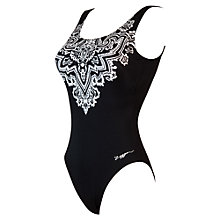 Buy Zoggs Bohemian Magic Scoopback Swimsuit, Black/White Online at johnlewis.com