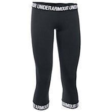 Buy Under Armour Favourite Word Mark Capris, Black Online at johnlewis.com