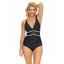 Buy Zoggs Bohemian Magic Mesh Crossover Swimsuit, Black/White Online at johnlewis.com