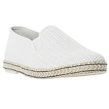 Buy Dune Fencing Mesh Espadrilles, White Online at johnlewis.com