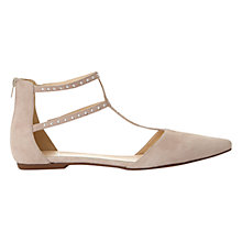 Buy Mint Velvet Alana Pointed Toe Double T-Bar Pumps, Pale Pink Online at johnlewis.com