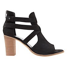 Buy Mint Velvet Pamela Peep Toe Shoe Boots, Black Online at johnlewis.com