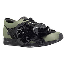 Buy Kurt Geiger Langham Trainers, Khaki/Black Online at johnlewis.com